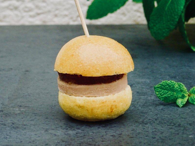 Briochin au bloc de foie gras & chutney de figue